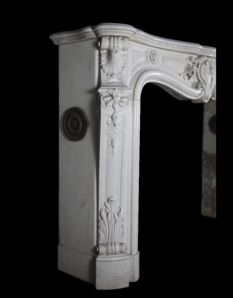 Pure White Statuary Marmor Französisch Jahrgang Kamin Maske