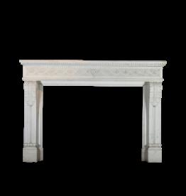 Grand Palace White Statuary Vintage Chimney Piece
