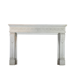 Groß Palace Weiß Statuarisch Jahrgang Kamin