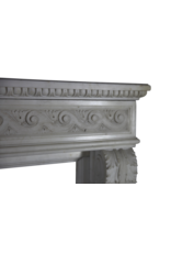Grand Palace White Statuary Marble Vintage Fireplace Surround