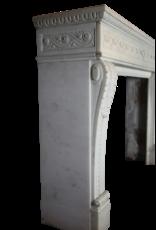 Gran Palacio Blanca Estatuas De Mármol De Epoca Chimenea