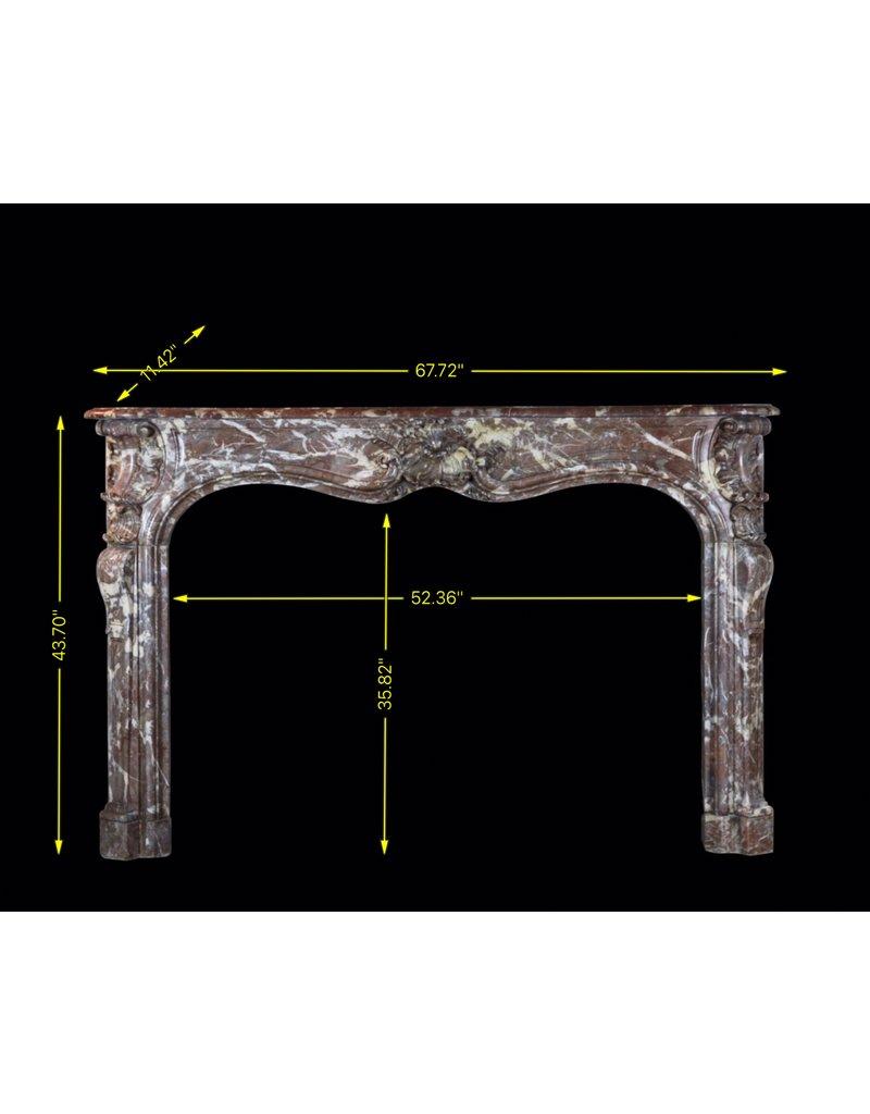 The Antique Fireplace Bank 18. Jahrhundert Periode Belgischen Chique Jahrgang Kamin Verkleidung