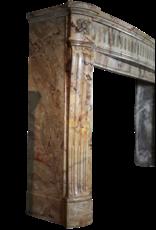 Klassische Chique Französisch Marmor Antike Kamin Maske