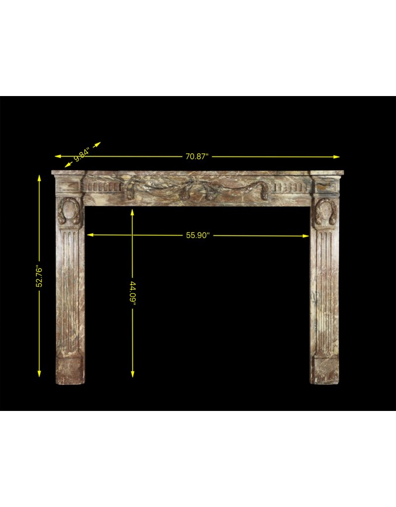 The Antique Fireplace Bank Empire Period Marble Vintage Fireplace Surround