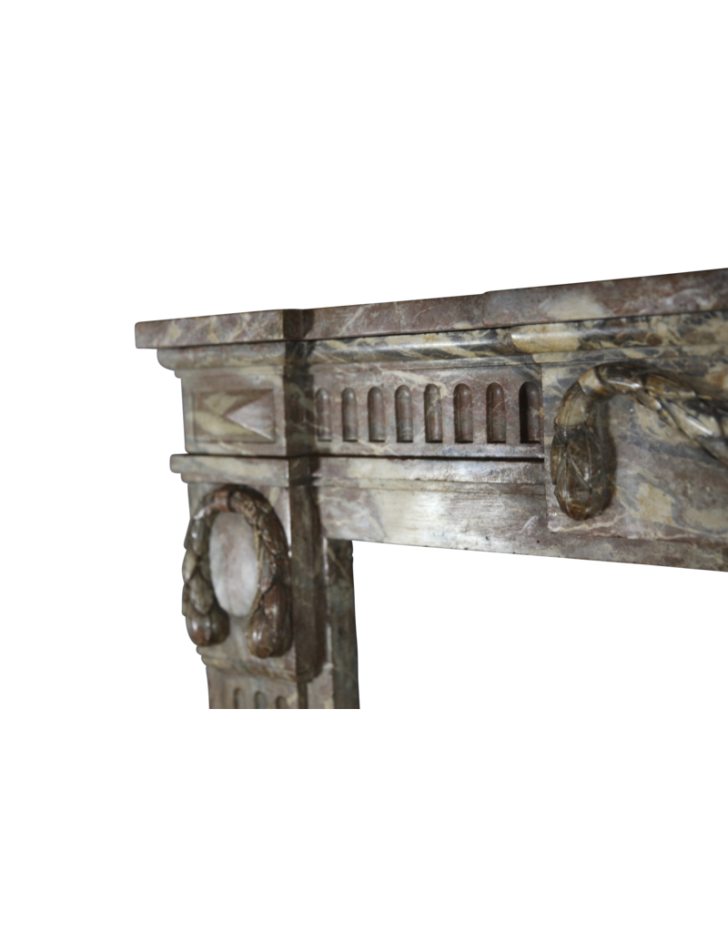 Empire Period Marble Vintage Fireplace Surround