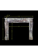 The Antique Fireplace Bank 19Th Century Belle Epoque Period Marble Chimney Piece