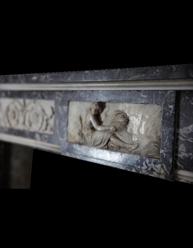 Original Del Siglo 18 Belga Antiguo Revestimiento En Mármol