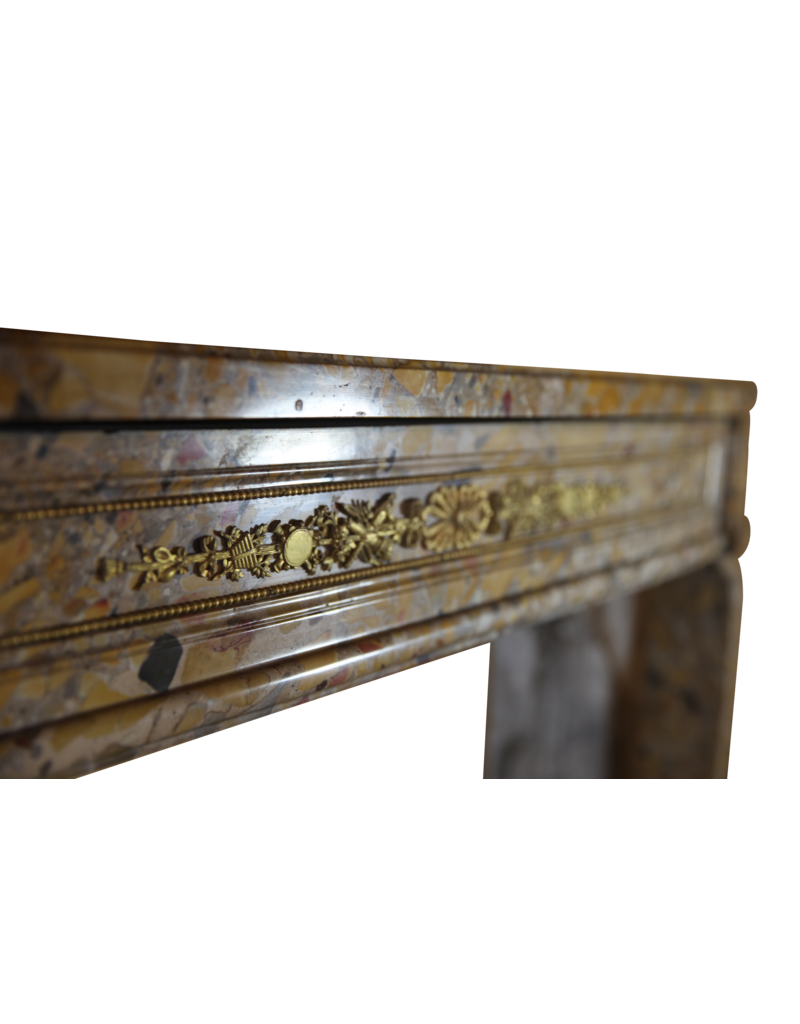 French Classic Chique Louis XVI Period Vintage Fireplace Surround