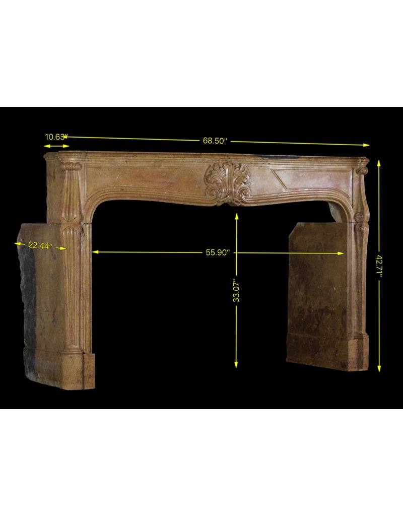Französisch Regentschaft Periode Antike Kamin Maske In Zweifarbig Harte Kalkstein