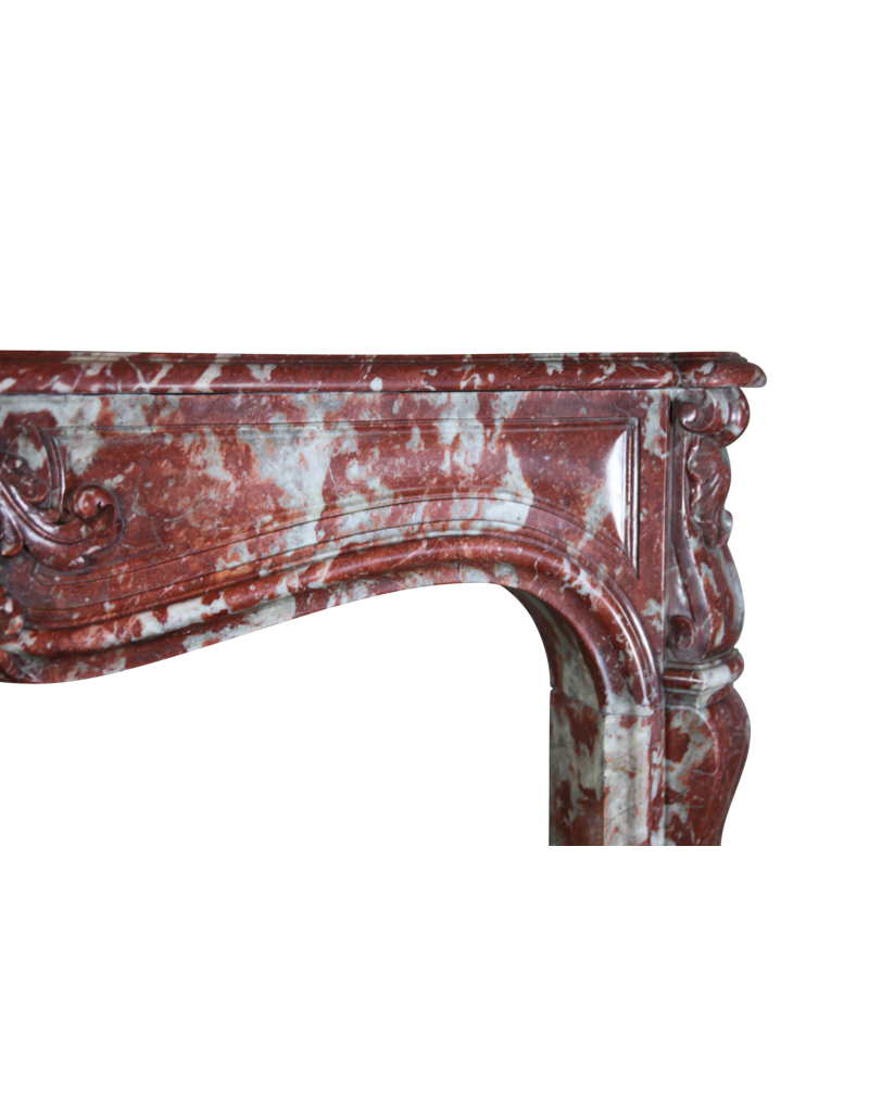 18Th Century Classic Chique French Vintage Marble Fireplace Surround