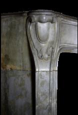 Mármol Siglo 18 Antiguo Fino Chimenea De Piedra