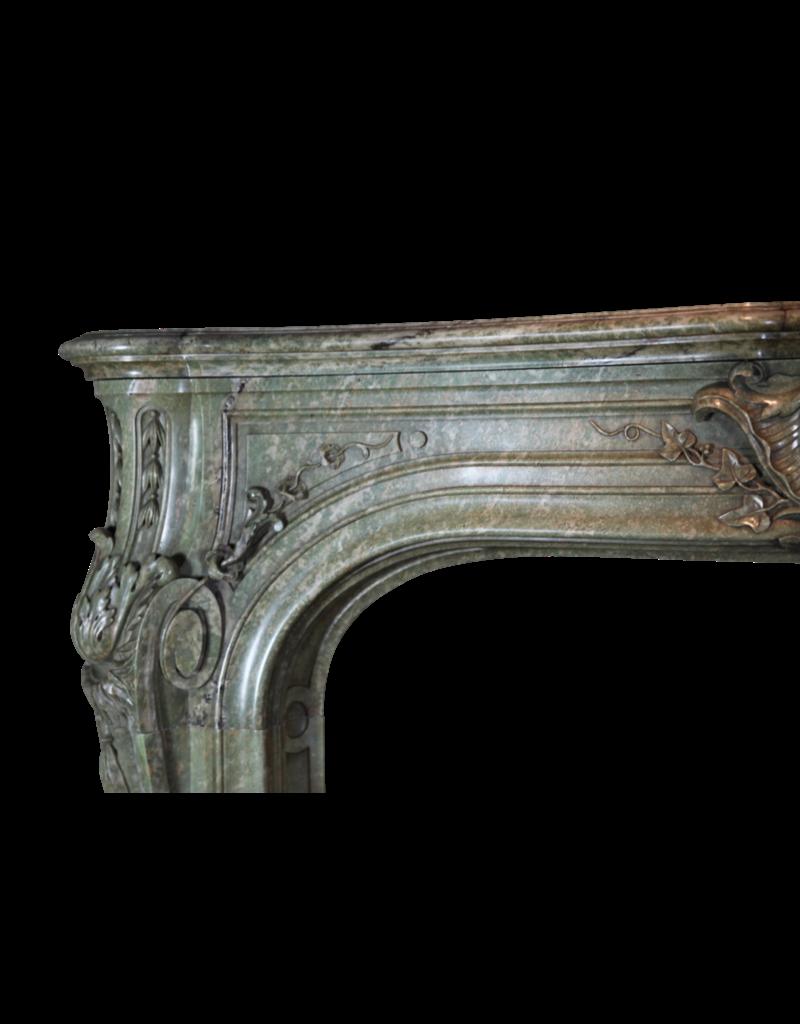The Antique Fireplace Bank Groß Green Marmor 19. Jahrhundert Antike Kamin Maske