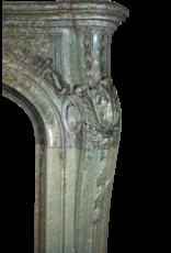 Maison Leon Van den Bogaert Antique Fireplaces & Vintage Architectural Elements Groß Green Marmor 19. Jahrhundert Antike Kamin Maske