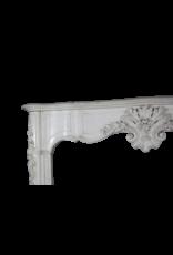 Excepcional De Mármol Blanco Antiguo Estatuaria Chimenea