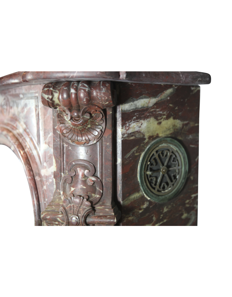 18Th Century Period Grand Chique Vintage Fireplace Surround