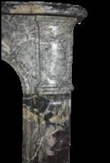 Multi Color Französisch Campan Marmor Antike Kamin Maske