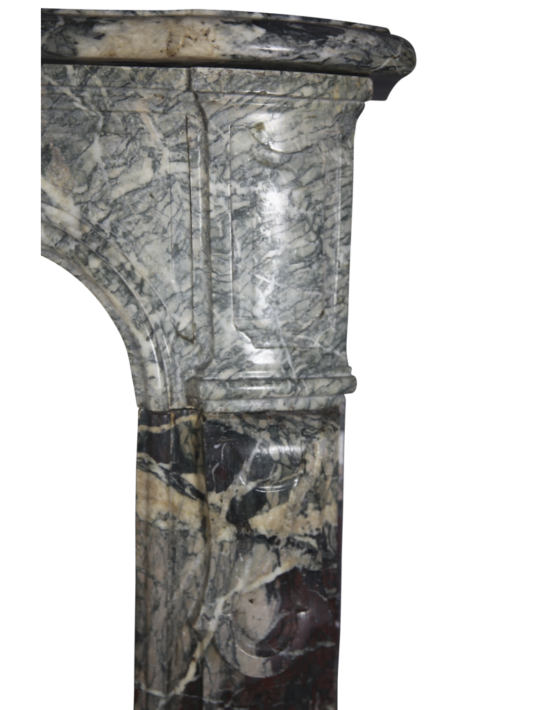 Multi Color French Campan Marble Antique Fireplace Surround