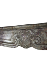 Klassisch Französisch Interior Original-Antikmarmor Kamin Maske