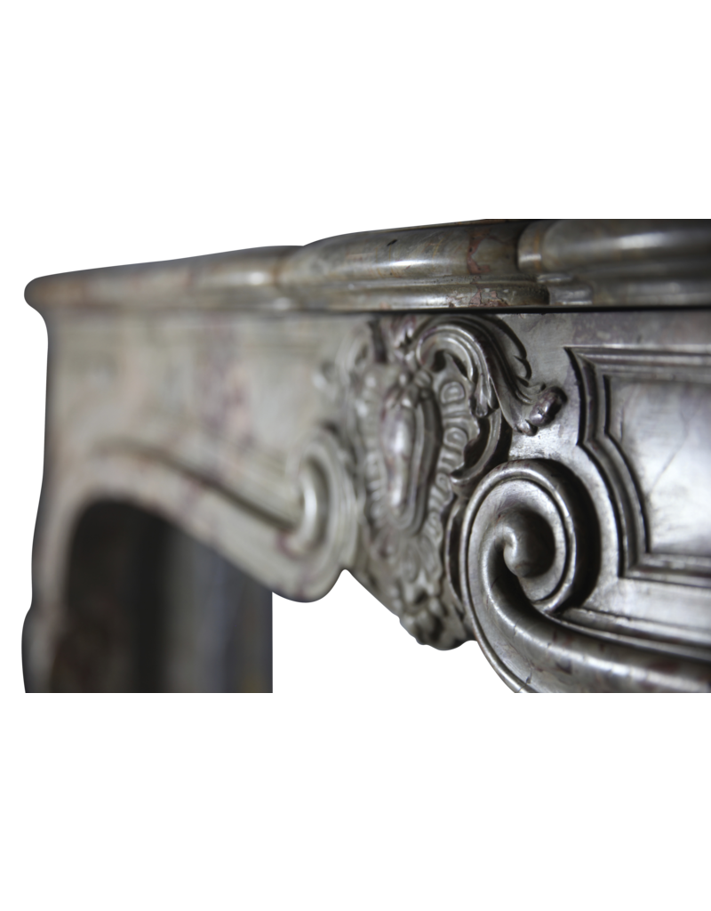 Classic French Interior Original Antique Marble Fireplace Surround