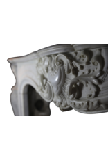 Exceptional French Belle Epoque Rococo Style Antique Fireplace Surround