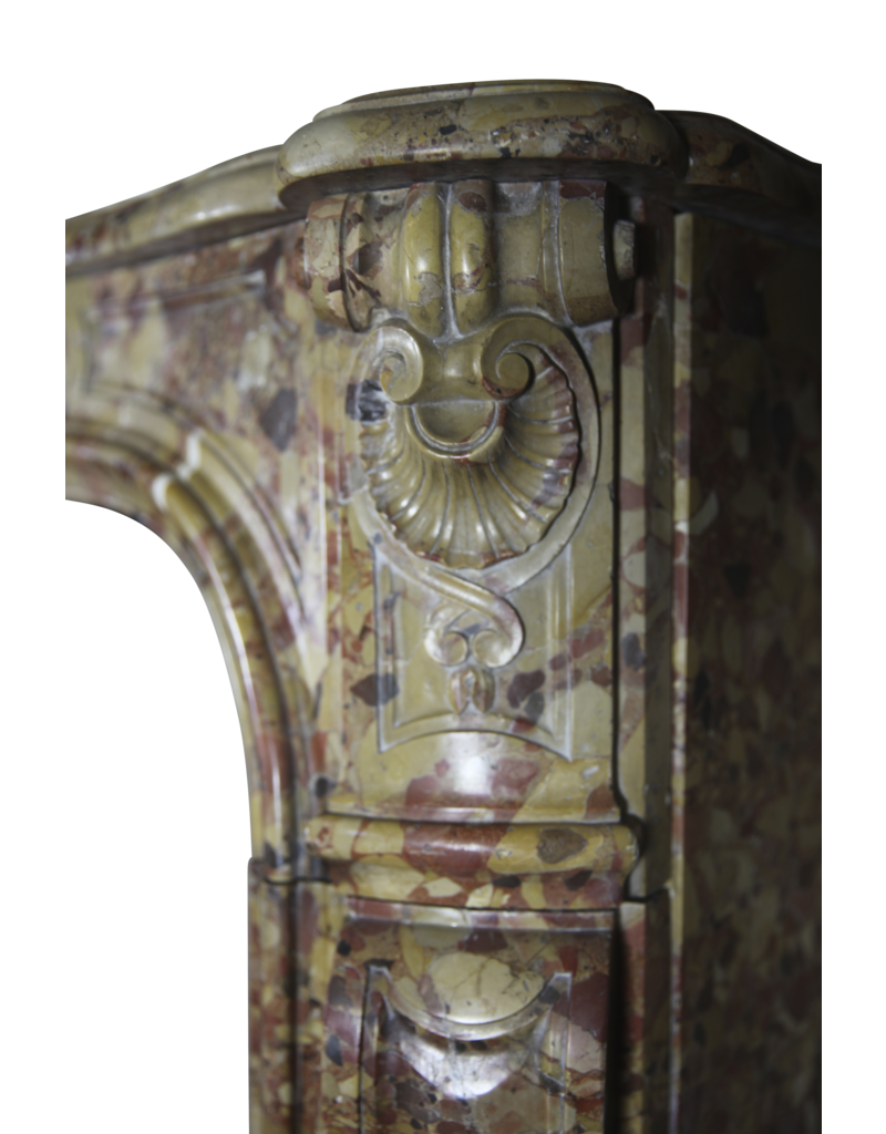 French Chique Royal Marble Antique Fireplace Surround