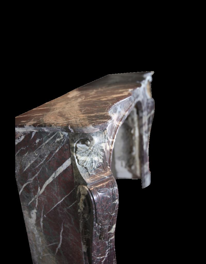 Historische Multi Color Marmor Jahrgang Kamin Maske