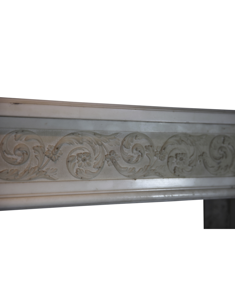 The Antique Fireplace Bank 18Th Century Chique French Fireplace Surround In White Statuary Marble