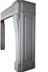 The Antique Fireplace Bank 18. Jahrhundert Chique Französisch Kamin Maske In White Statuary Marmor