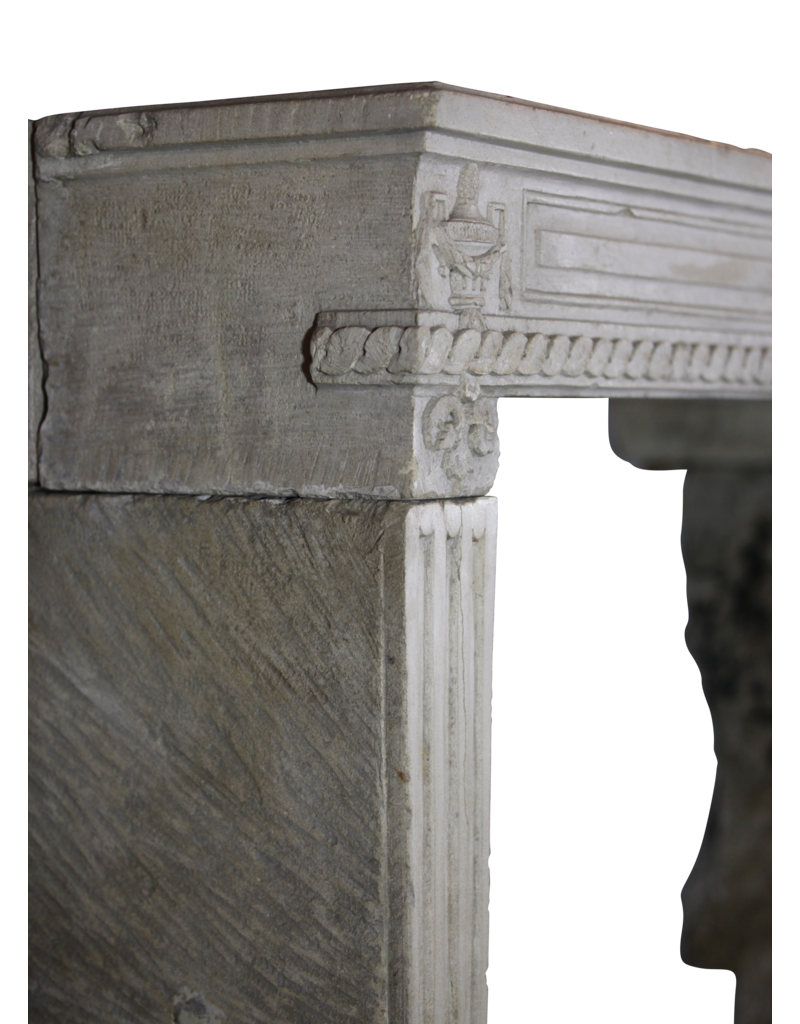 The Antique Fireplace Bank Directoire Original French Fireplace Surround