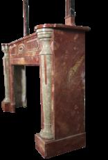 Maison Leon Van den Bogaert Antique Fireplaces & Vintage Architectural Elements Groß-Art-Deco-Periode Antike Kamin Maske Mit Multi Color Marmor