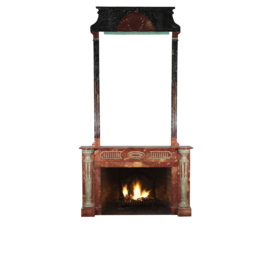Grand Art Deco Period Antique Fireplace Surround