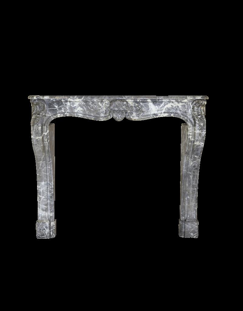 The Antique Fireplace Bank 18A Inusual Antiguo Del Siglo Revestimiento En Grey St-Anna Mármol