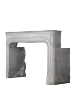 Grand 17Th Century French Antique Fireplace Surround In Grey Hard Stone