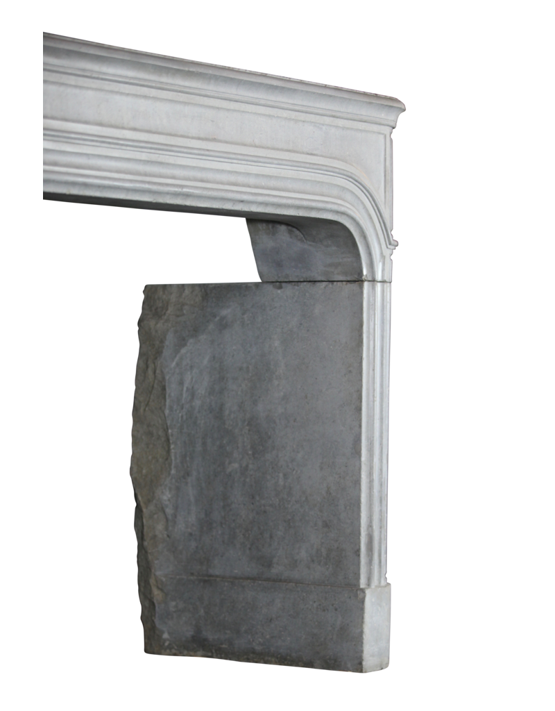 Groß 17. Jahrhundert Französisch Antike Kamin Maske Im Grauen Hartstein