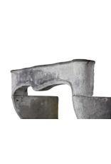 Französisch Chique Land-Art Kalksandstein Antike Kamin Maske