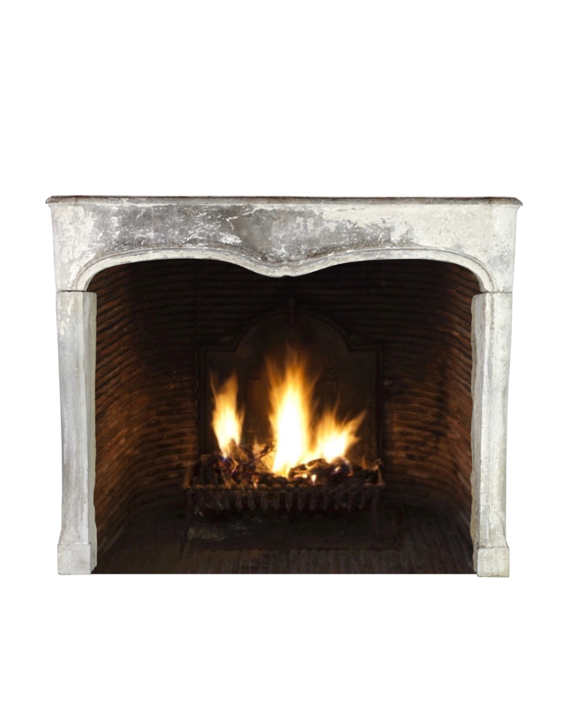 French Chique Country Style Limestone Antique Fireplace Surround