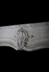 French 18Th Century Period Limestone Fireplace Surround