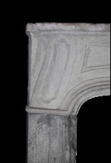 Französisch Des 18. Jahrhunderts Periode Kalkstein Kamin Maske