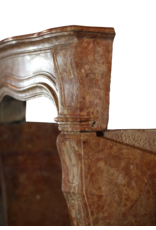 Chique Antike Stein Kamin Maske