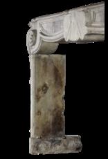 Französisch 17. Jahrhundert Periode Französisch Landstil-Art-Antike Kalkstein Kamin Maske