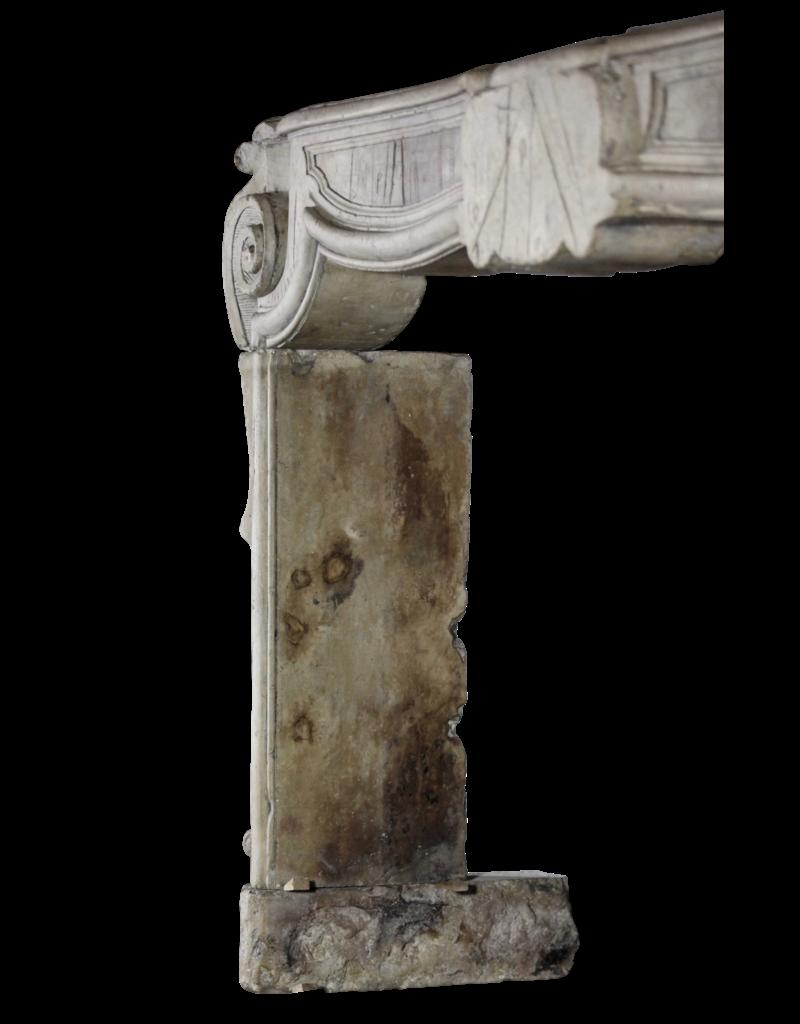 The Antique Fireplace Bank Französisch 17. Jahrhundert Periode Französisch Landstil-Art-Antike Kalkstein Kamin Maske