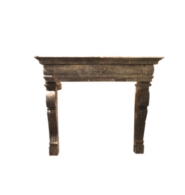 The Antique Fireplace Bank Italienisch Chique Fossil Stein Kamin Maske