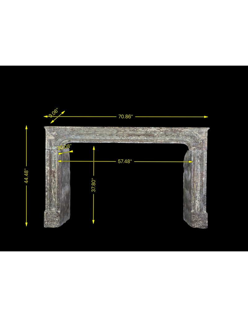 17Th Century Country Chique Fireplace Surround In Limestone