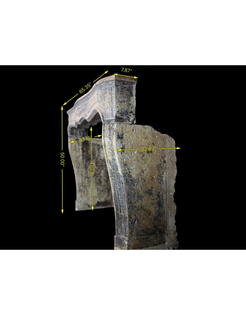 Französisch Landhausstil Des 18. Jahrhunderts Periode Kamin Maske Im Kalkstein