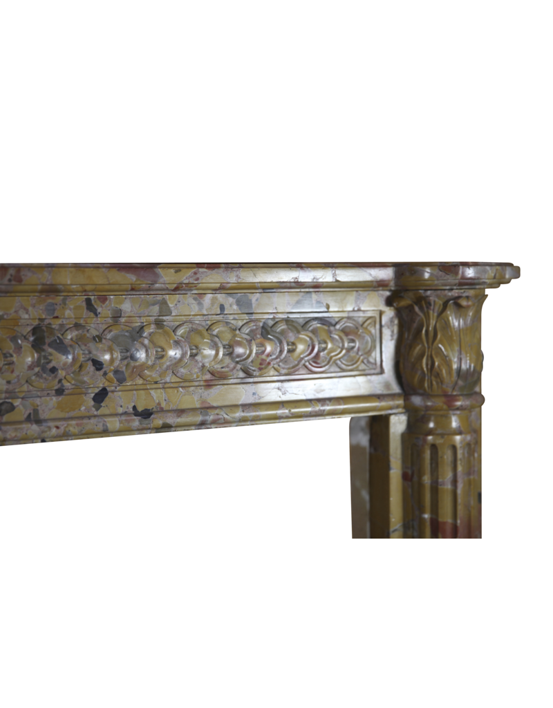 French Chique Marble Antique Fireplace Surround