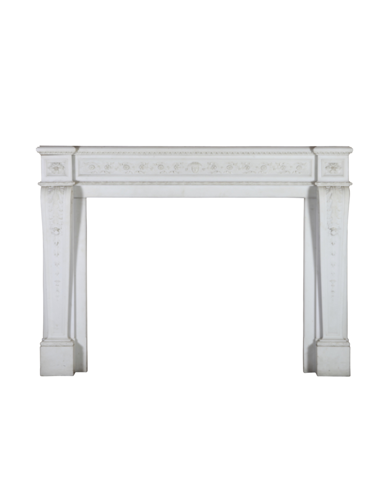 The Antique Fireplace Bank Groß Französisch Chique Antike Kamin Maske In White Statuary Marmor