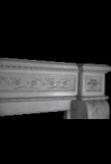 Gran Francés Chique Antiguo Chimenea En White Estatuas De Mármol