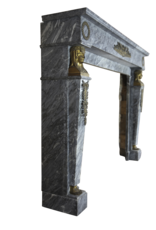 Mármol Empire Periodo De Epoca Chimenea