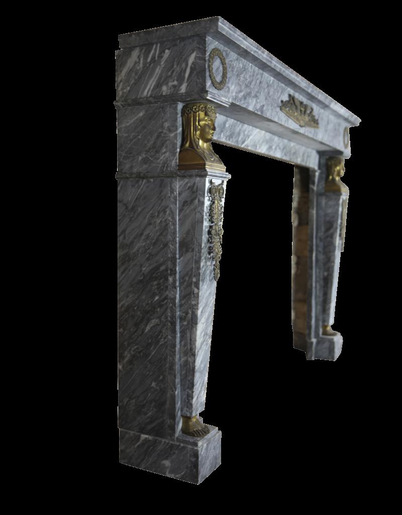 The Antique Fireplace Bank Empire Jahrgang Marmor Kamin Maske