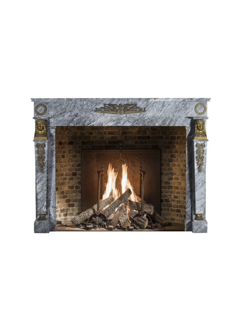 The Antique Fireplace Bank Empire Period Vintage Marble Fireplace Surround